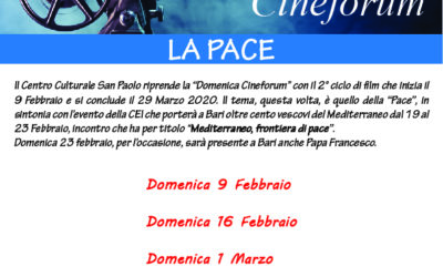 "DOMENICA CINEFORUM ""Pace"""