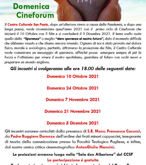 """""""Domenica Cineforum"""" Anno 2021-2022"""
